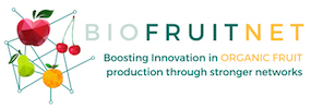 Knowledge for organic biofruitnet project logo