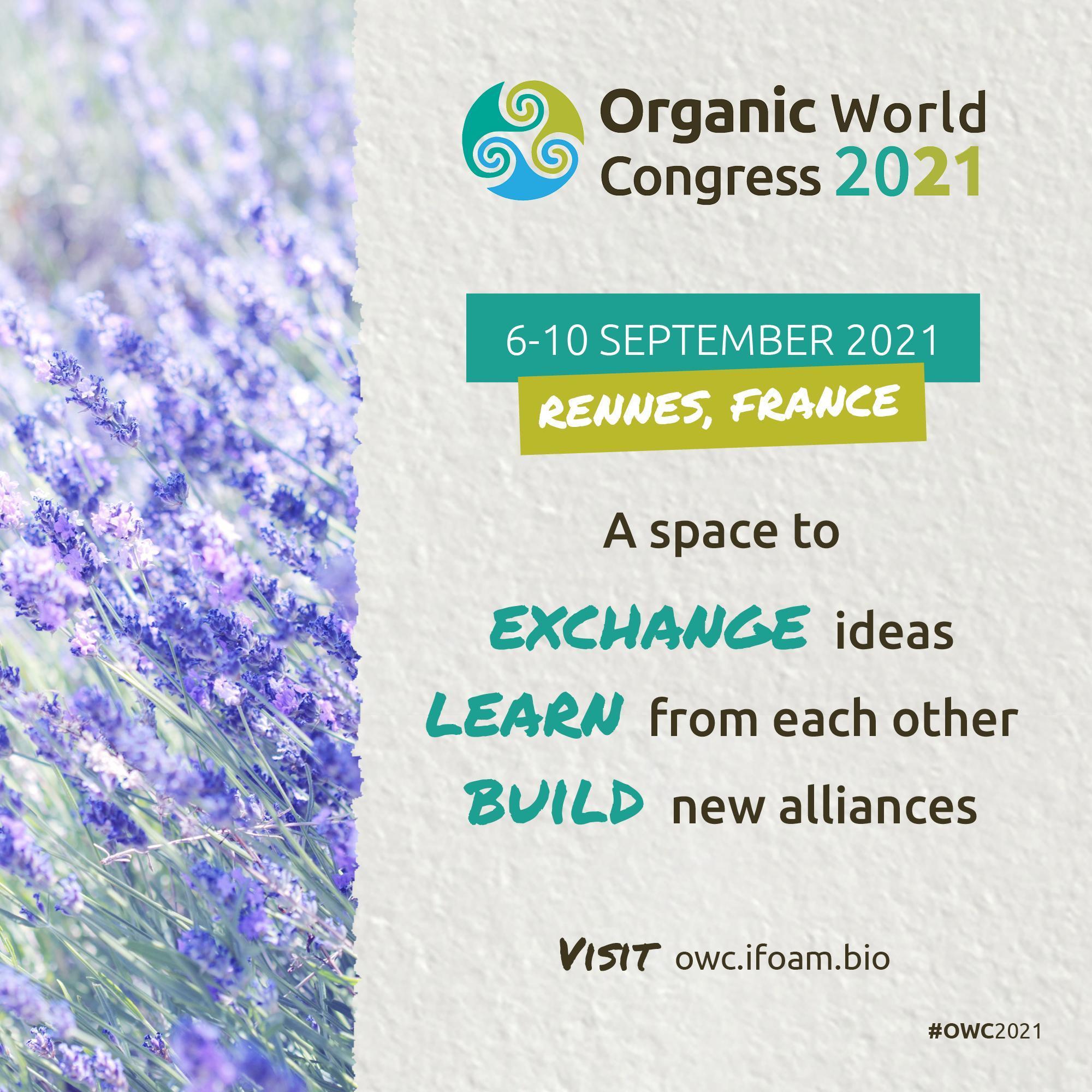OWC2021 Organic world congress 2021 IFOAM